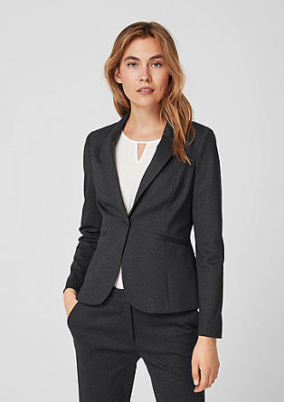 Fashionable blazer with a woven pattern from s.Oliver