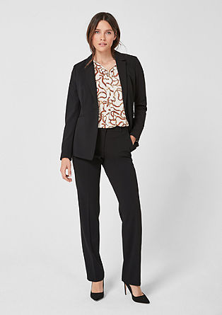Fitted crêpe blazer from s.Oliver