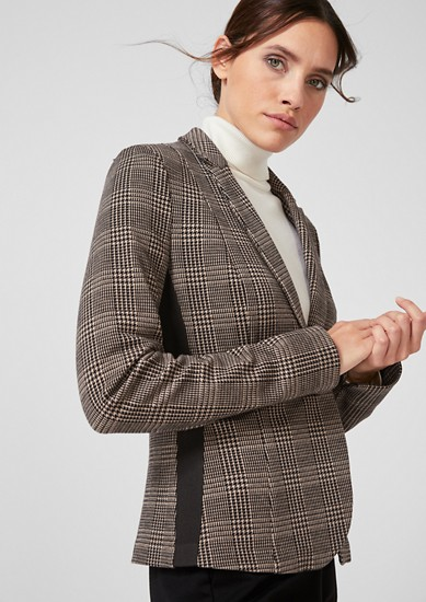 Prince of Wales check blazer with tape from s.Oliver