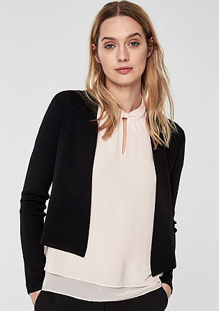 Cardigan in a sleek finish from s.Oliver