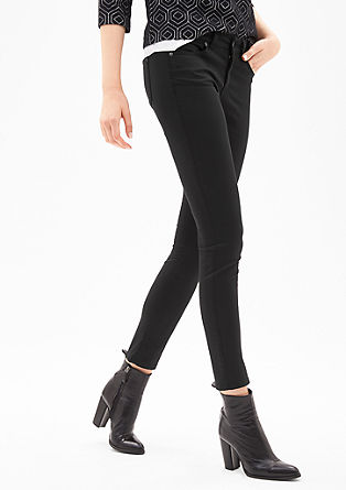 Sienna Slim  Verkürzte Satinhose. true blue  black black  + Farben. s.Oliver  BLACK LABEL 373ae443d0