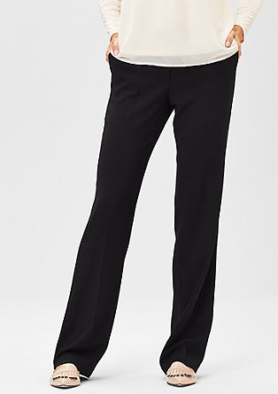 Elegant crêpe trousers with pressed pleats from s.Oliver