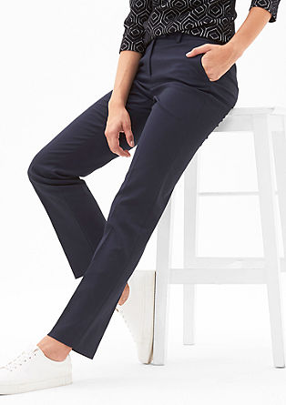 Finely textured trousers from s.Oliver