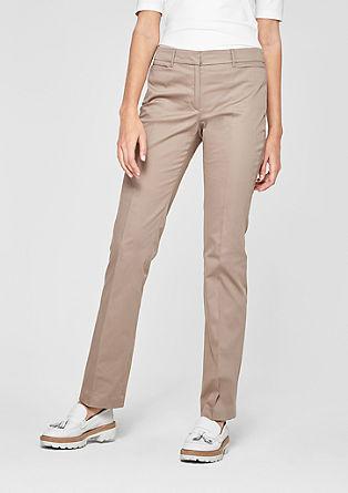 Sue Slim: kalhoty zbavlněného saténu