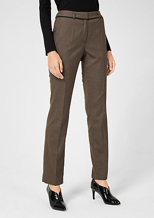 Eve Easy: trousers with a textured pattern from s.Oliver