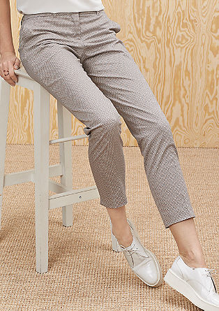Slim: patterned trousers from s.Oliver