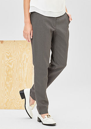 Slim: stretch jacquard trousers from s.Oliver
