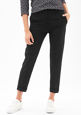 Rita Comfort: 7/8-length cloth trousers from s.Oliver