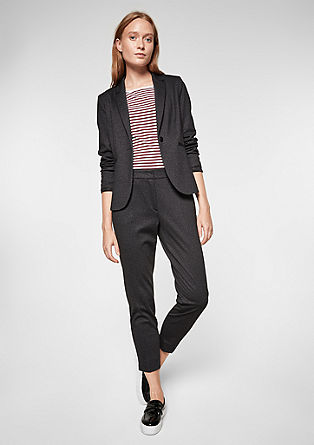 Rachel Straight: 7/8-length jersey trousers from s.Oliver