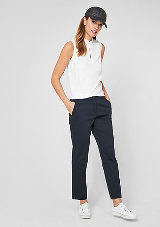 Rita Comfort: cotton satin trousers from s.Oliver