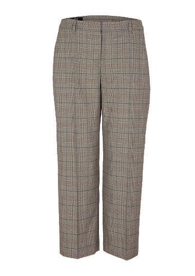 Regular Fit: Wide leg-Hose mit Glencheck-Muster