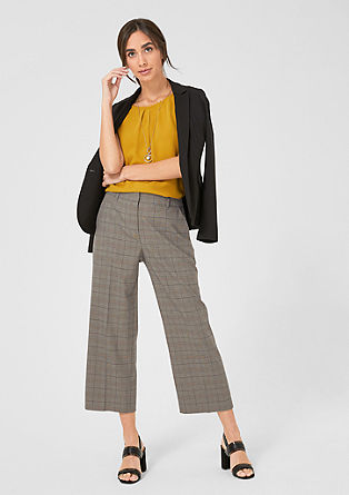 Culottes: Glencheck cloth trousers from s.Oliver