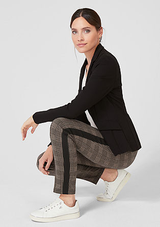 Sofia Slim: Stretchy checked trousers from s.Oliver