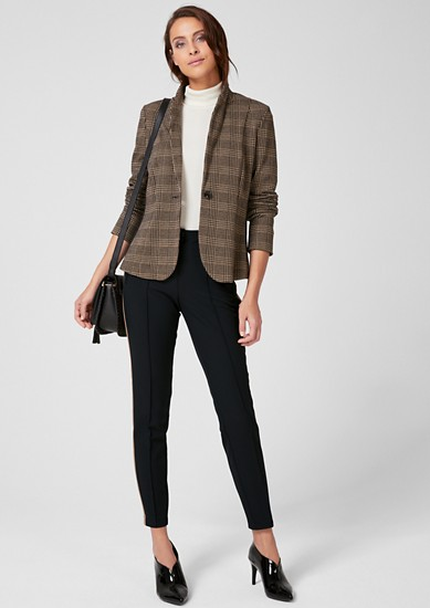 Sofia Slim: Trousers with tuxedo stripes from s.Oliver