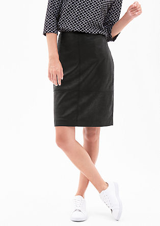 Leather-look skirt from s.Oliver