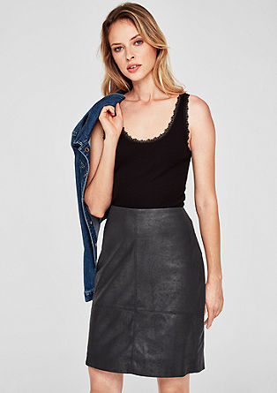 Leather look pencil skirt from s.Oliver