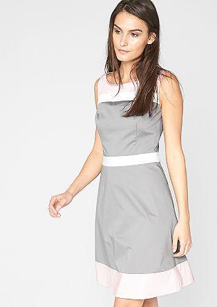 Satin-Kleid mit Farbakzenten