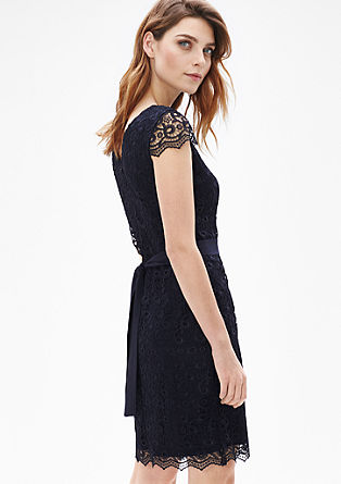 Lace dress with a chiffon belt from s.Oliver