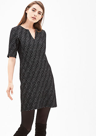 Jacquard dress with a retro pattern from s.Oliver