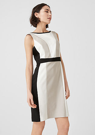 Sheath dress with colour blocking from s.Oliver