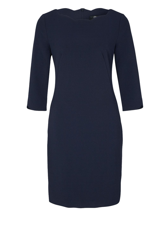 s.Oliver - Crêpe-Kleid mit Wellen-Ausschnitt - 3