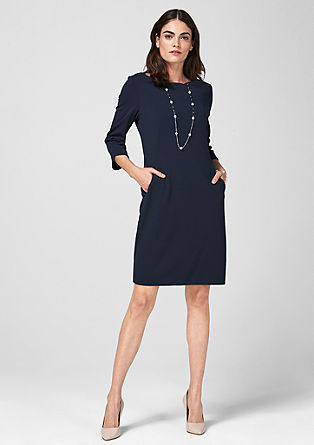 Crêpe dress with a wavy neckline from s.Oliver