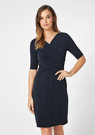 Stretch dress with a wrap effect from s.Oliver