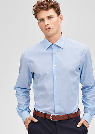 Modern Fit: shirt with a textured pattern from s.Oliver
