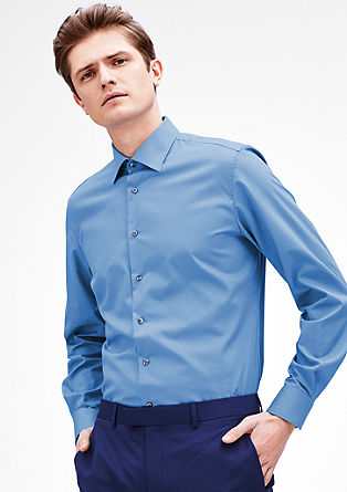 Modern Fit: non-iron cotton shirt from s.Oliver