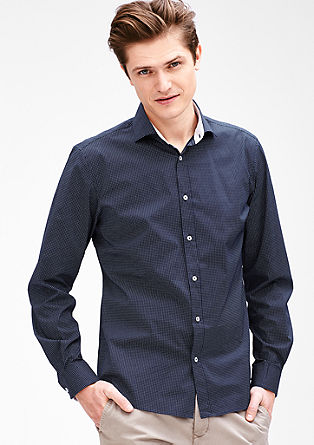 Modern fit: stretch shirt with contrast details from s.Oliver