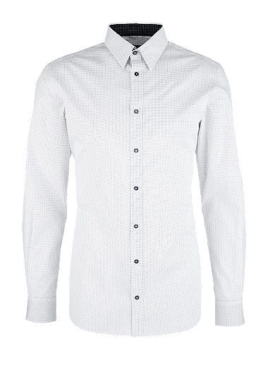Slim: Stretch shirt with a minimalist pattern from s.Oliver