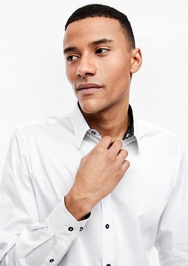 Slim: chemise stretch à mini-motifs de s.Oliver
