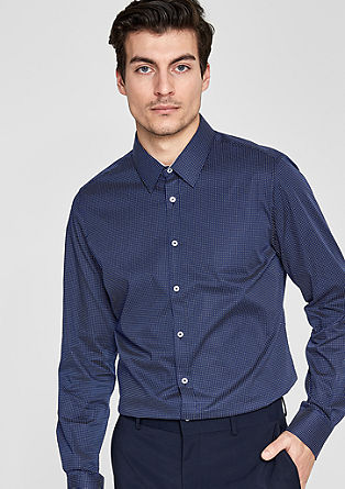 Slim: patterned stretch shirt from s.Oliver