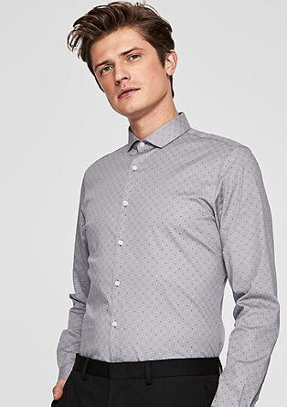 Slim: vzorovaná strečová košile