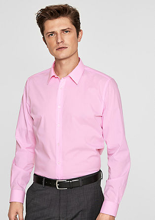 Slim: Stretch poplin shirt from s.Oliver