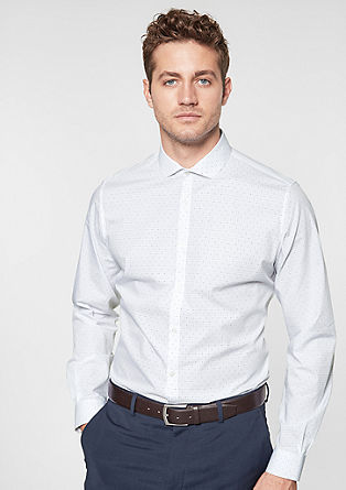 Slim Fit: shirt with a minimalist pattern from s.Oliver