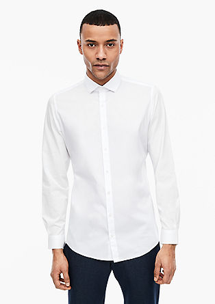 s.OWHAT Slim: Stretch shirt from s.Oliver