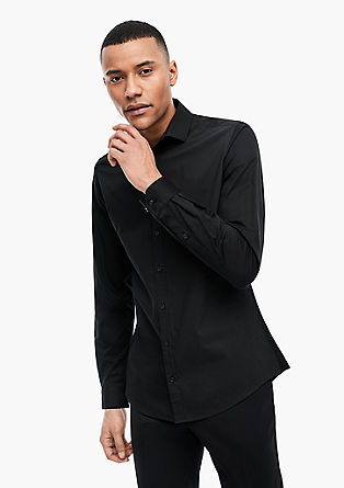 Slim: Fabric mix stretch shirt from s.Oliver