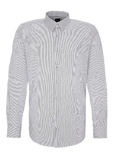Slim: gestreept business overhemd