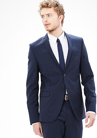 Slim: Tailored jacket in pure new wool from s.Oliver