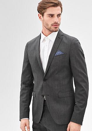 Slim: sports jacket with a subtle melange finish from s.Oliver