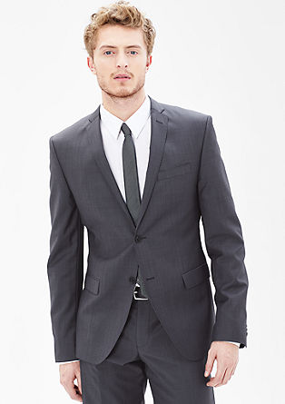 Slim: Tailored jacket with a subtle texture from s.Oliver
