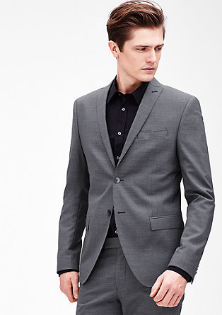Slim: tailored jacket with a woven pattern from s.Oliver