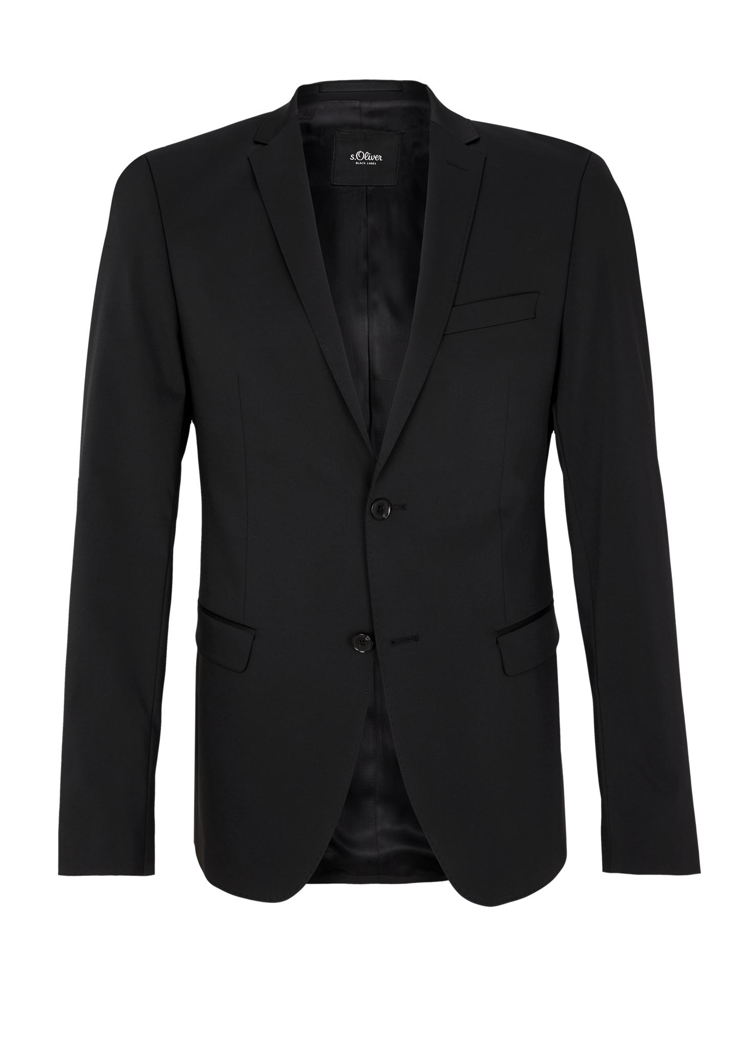 Sakko | Bekleidung | Grau/schwarz | Obermaterial 79% polyester -  19% schurwolle -  2% elasthan| futter 54% acetat -  46% viskose| Ärmelfutter 100% viskose | s.Oliver BLACK LABEL