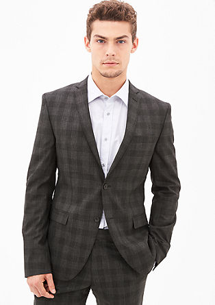 Cosimo Slim: glen plaid jacket from s.Oliver