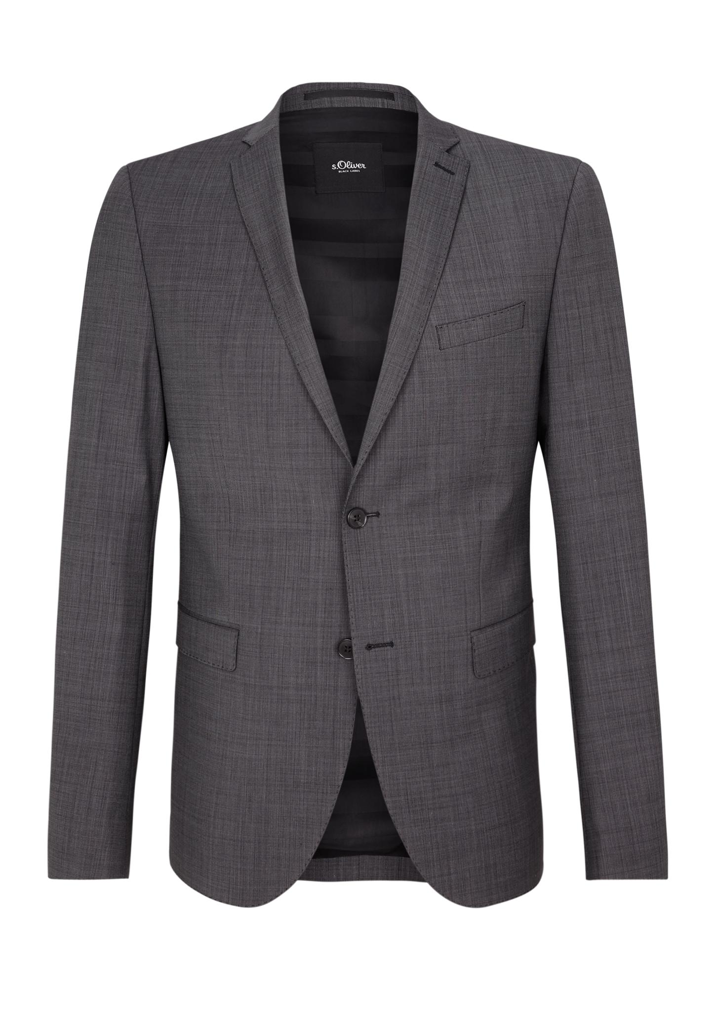 Anzugsakko | Bekleidung > Sakkos | Grau | Oberstoff: 53% polyester -  43% schurwolle -  4% elasthan| futter: 53% acetat -  47% polyester | s.Oliver BLACK LABEL