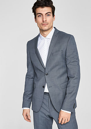 Suit jacket with a woven texture from s.Oliver