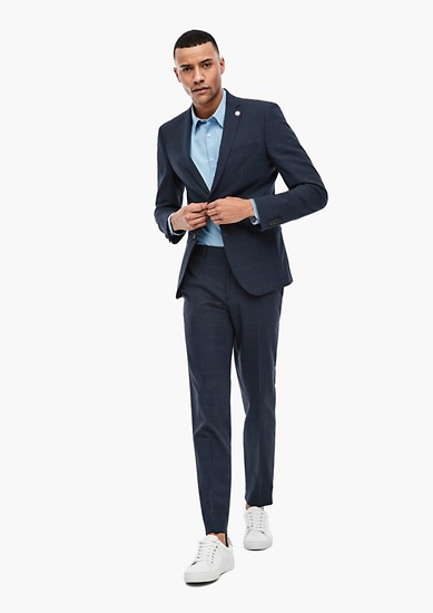 Slim: Sports jacket in a new wool blend from s.Oliver