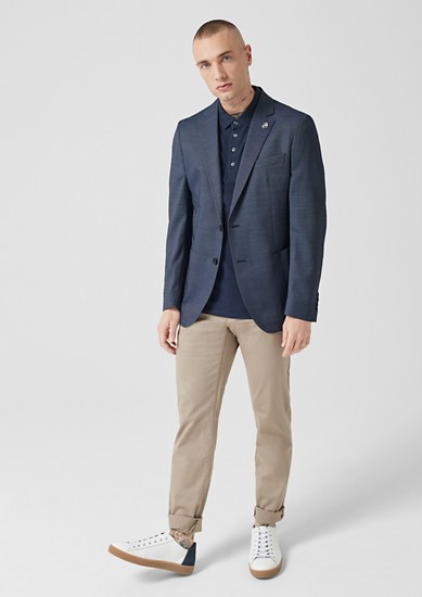 Slim: textured sports coat from s.Oliver