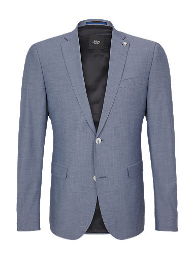 Slim: Textured suit jacket from s.Oliver